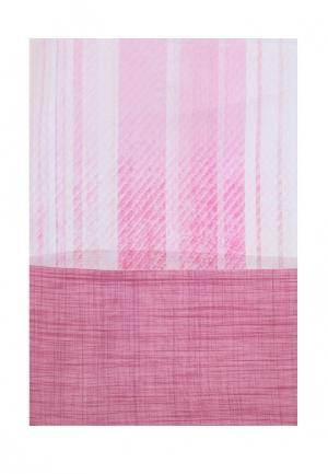 Комплект тюлей 2 шт. ТомДом. Цвет: розовый