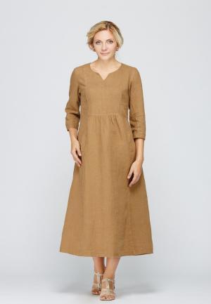 Платье Kayros. Цвет: коричневый