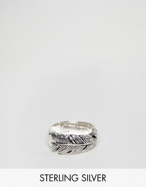 Seven London Серебряное кольцо в виде пера. Цвет: серебряный