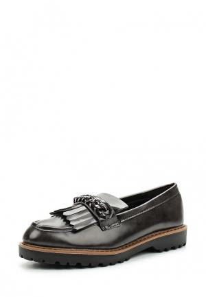 Лоферы Ideal Shoes. Цвет: серый
