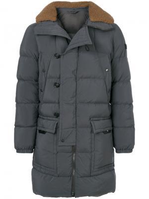 Hooded padded coat Peuterey. Цвет: серый