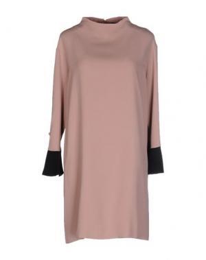 Короткое платье .TESSA. Цвет: пастельно-розовый
