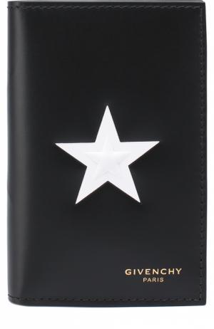Кожаный футляр для кредитных карт Givenchy. Цвет: черный