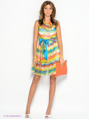 Платье Xarizmas. Цвет: желтый, лазурный, салатовый, коралловый