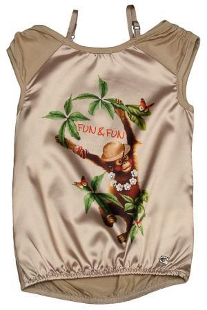 Платье FuN&FuN. Цвет: бежевый