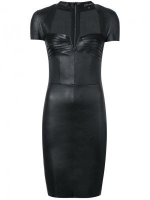 Платье с рукавами-кэп Jitrois. Цвет: чёрный