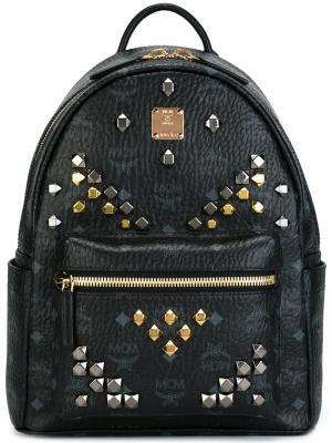 Рюкзак с заклепками MCM. Цвет: чёрный