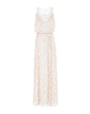 Длинное платье REBECCA MINKOFF. Цвет: лососево-розовый