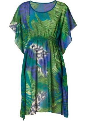 Пляжная туника (зеленый/бирюзовый/синий) bonprix. Цвет: зеленый/бирюзовый/синий