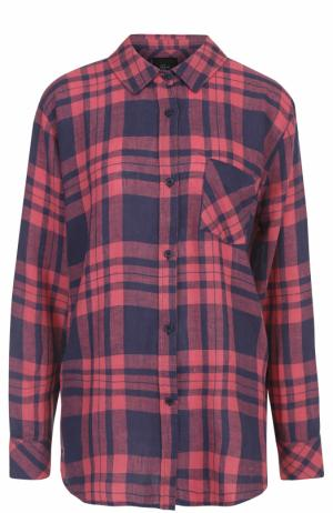 Блуза свободного кроя с принтом Rails. Цвет: красный