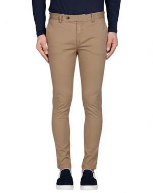 Повседневные брюки DAVID NAMAN. Цвет: верблюжий
