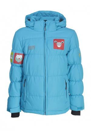 Куртка утепленная Fun Rocket. Цвет: голубой