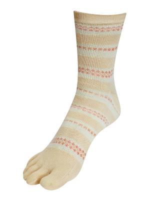 Носки Master Socks. Цвет: серо-зеленый, светло-желтый, светло-оранжевый