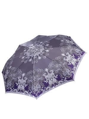 Зонт Fabretti. Цвет: серый, фиолетовый