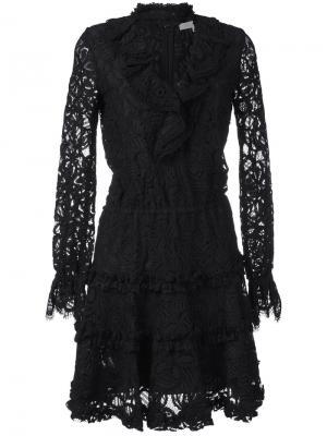 Трикотажное платье с воротником-чокером Alexis. Цвет: чёрный
