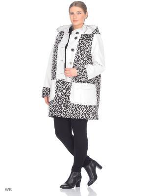 Пальто Fart Favorita. Цвет: белый, черный