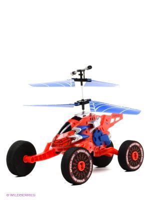 Вертолет Технопарк. Цвет: синий, красный