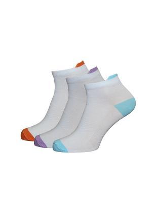 Носки, 3 пары HOSIERY. Цвет: голубой, оранжевый, сиреневый