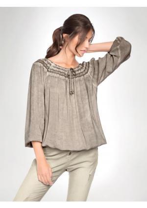 Блузка LINEA TESINI by Heine. Цвет: песочный