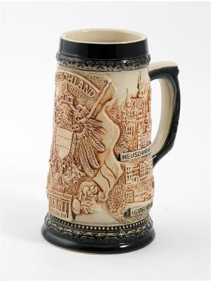 Пивная кружка коллекционная Германия BURGER. Цвет: коричневый, темно-бежевый