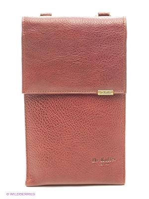 Нагрудный кошелек Dr. Koffer. Цвет: светло-коричневый