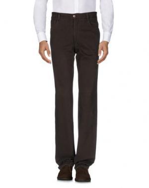 Повседневные брюки MILA SCHÖN. Цвет: темно-коричневый