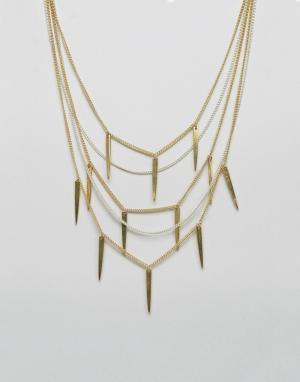 Made Многорядное ожерелье Statement. Цвет: золотой