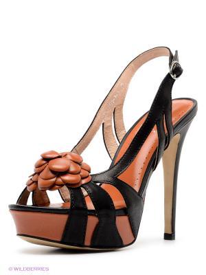 Босоножки Dali. Цвет: черный, светло-коричневый