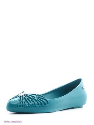 Балетки ZAXY. Цвет: зеленый, морская волна