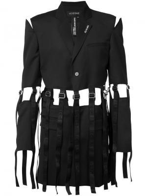 Пальто Half Cut Icosae. Цвет: чёрный