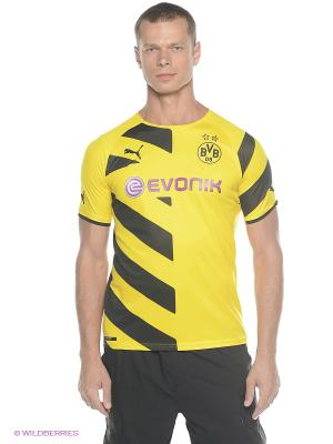 Футболка BVB Kids Home Replica Shirt Puma. Цвет: желтый