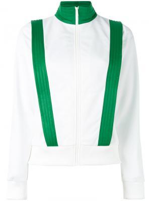 Куртка с контрастной отделкой Ganni. Цвет: белый