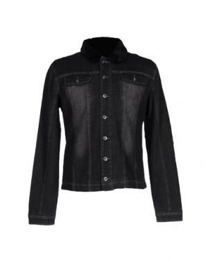 Джинсовая рубашка YES ZEE by ESSENZA. Цвет: черный