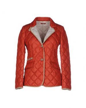 Куртка MABRUN. Цвет: ржаво-коричневый