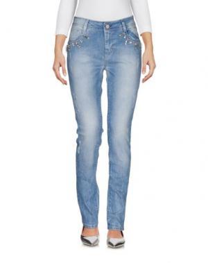 Джинсовые брюки COCCAPANI TREND. Цвет: синий