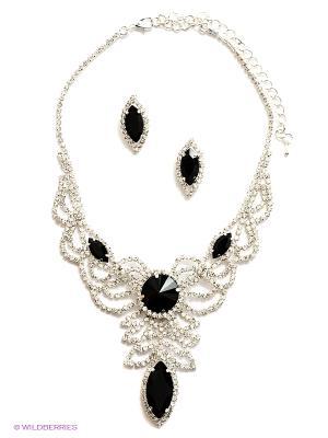 Комплект бижутерии Royal Diamond. Цвет: черный
