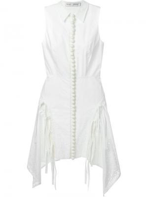Платье с бахромой Proenza Schouler. Цвет: белый
