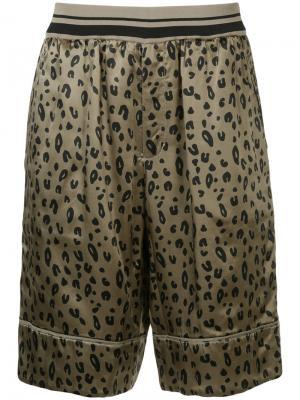 Двусторонние шорты с леопардовым принтом 3.1 Phillip Lim. Цвет: коричневый