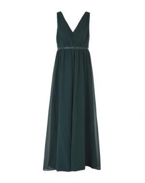 Длинное платье SALONI. Цвет: темно-зеленый