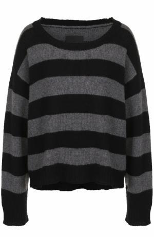 Кашемировый пуловер в полоску с круглым вырезом RTA. Цвет: темно-серый