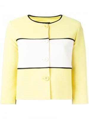Укороченный жакет с панельным дизайном Boutique Moschino. Цвет: жёлтый и оранжевый