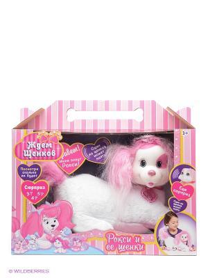 Набор Собачка Рокси и ее щенки Just Play. Цвет: бледно-розовый
