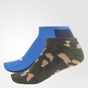 Две пары носков Trefoil Liner  Originals adidas. Цвет: синий