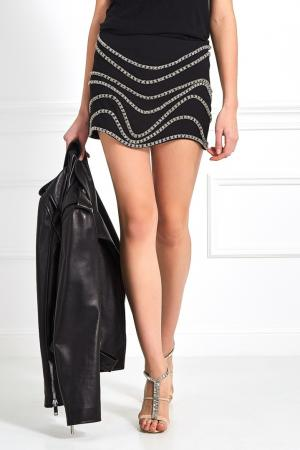 Декорированная юбка-мини Jay Ahr. Цвет: черный