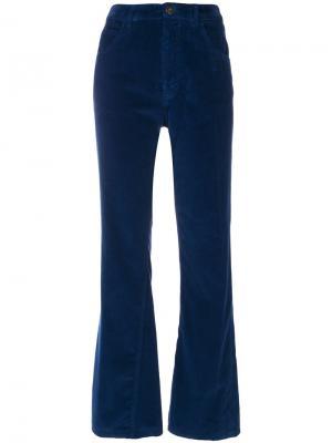 Укороченные бархатные брюки Prada. Цвет: синий