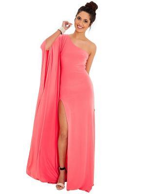 Платье Goddess London. Цвет: коралловый