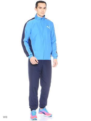 Костюм спортивный  Flash Woven Suit op Puma. Цвет: лазурный