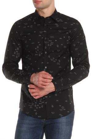 Прилегающая рубашка с застежкой на пуговицы Diesel. Цвет: 900 черный