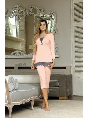 Пижама Babella. Цвет: персиковый