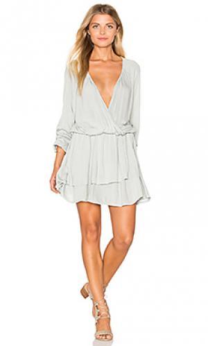 Платье rosslyn LA Made. Цвет: светло-серый